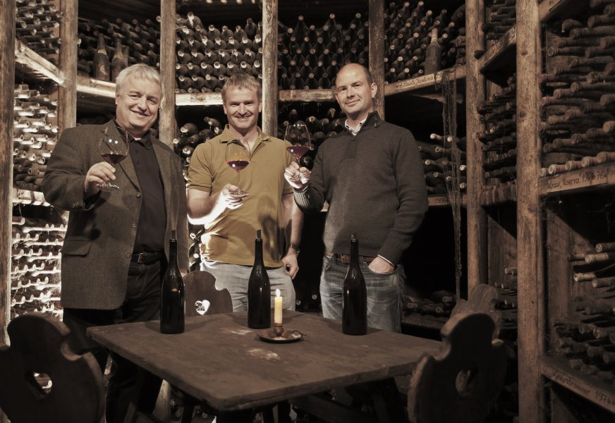 The PINO 3000 winegrowers - Joachim Heger, Paul Achs and Wolfgang Tratter